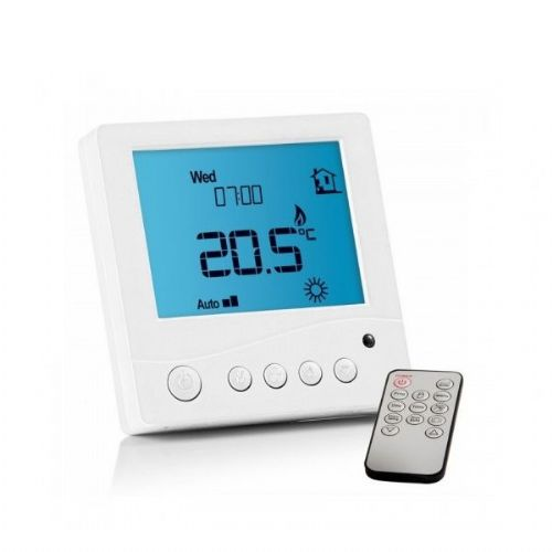 Abacus Essentials Touchscreen Thermostat For Underfloor Heating - Silver